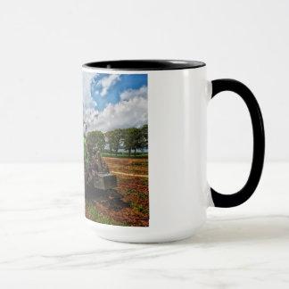 Green Tractor & Grain combo Mug
