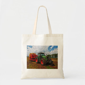 Green Tractor & Grain mixer budget tote