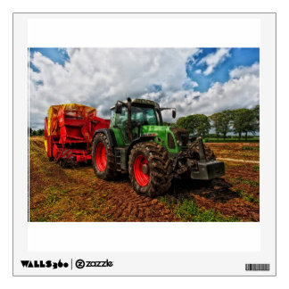 Green Tractor & Grain mixer decal