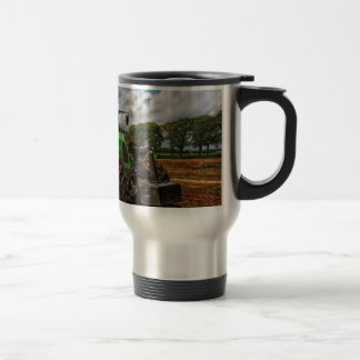 Green Tractor & Grain Mixer travel Mug