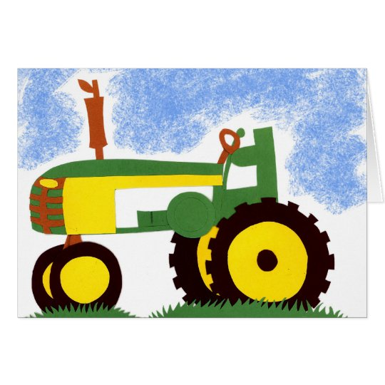 Green Tractor Greeting card
