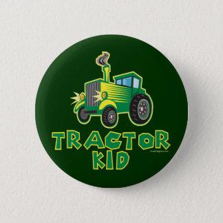 Green Tractor Kid 2 Inch Round Button