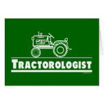 Green Tractor Ologist Greeting Card