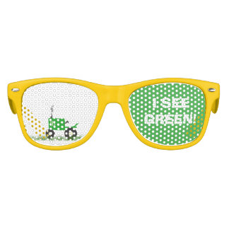 Green Tractor Party Shades