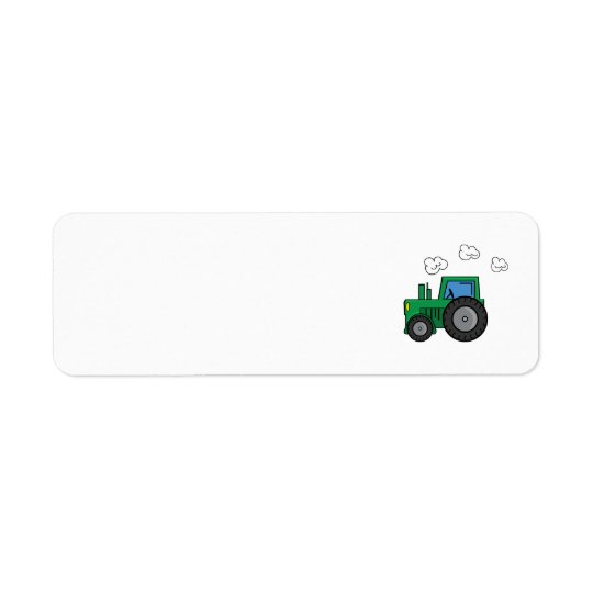 Green Tractor Return Address Label