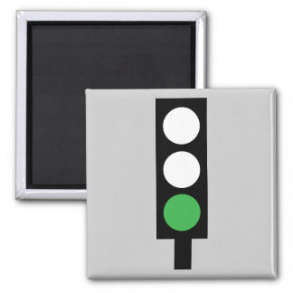 Green traffic light magnet