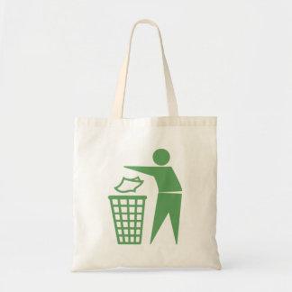 Green Trash Can Sign Bags