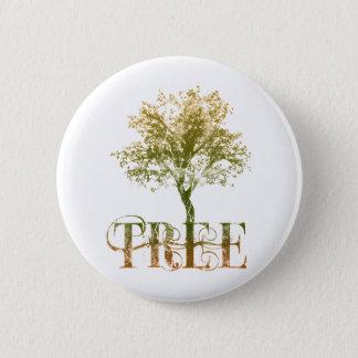 Green Tree 2 Inch Round Button