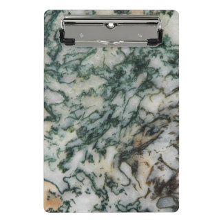 Green Tree Agate Pattern Mini Clipboard