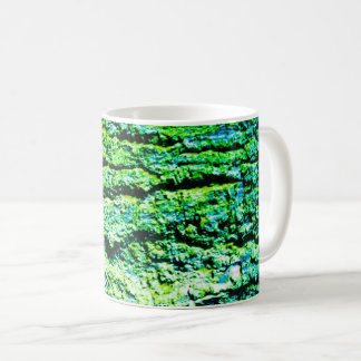 Green tree bark coffee mug