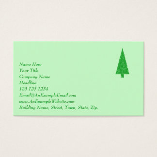 Green Tree. Christmas, Fir, Evergreen Tree. Business Card