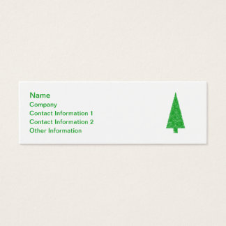 Green Tree. Christmas, Fir, Evergreen Tree. Mini Business Card