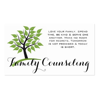 Green Tree Family Counseling Life Coach Spiritual Business Card Templates