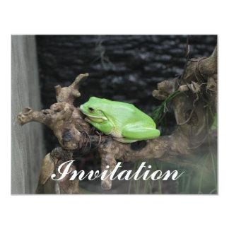 "Green Tree Frog 4.25"" X 5.5"" Invitation Card"