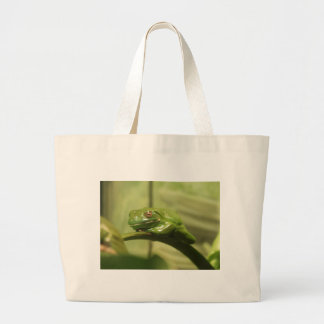 Green Tree Frog Jumbo Tote Bag