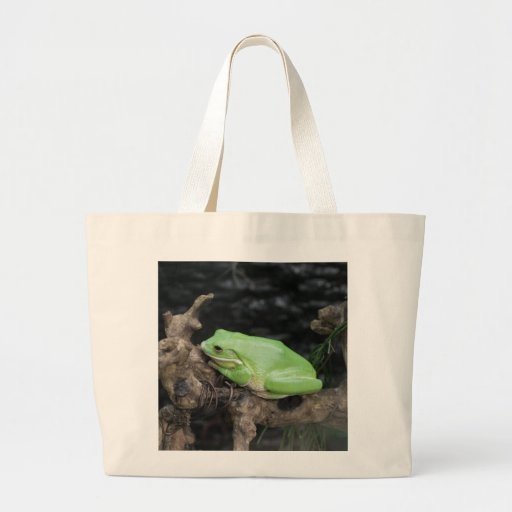 Green Tree Frog Tote Bags