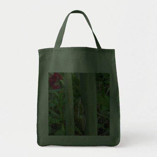 Green Tree Frog (Hyla cinera) Tote Bags
