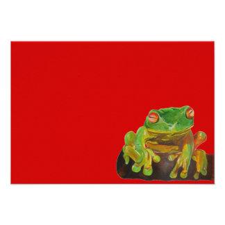 Green Tree Frog Invitations