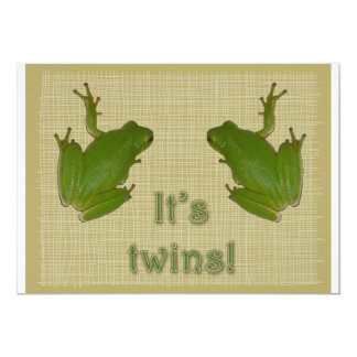 Green Tree Frog It's twins! Announcement