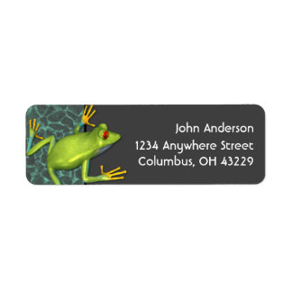 Green Tree Frog Return Address Labels