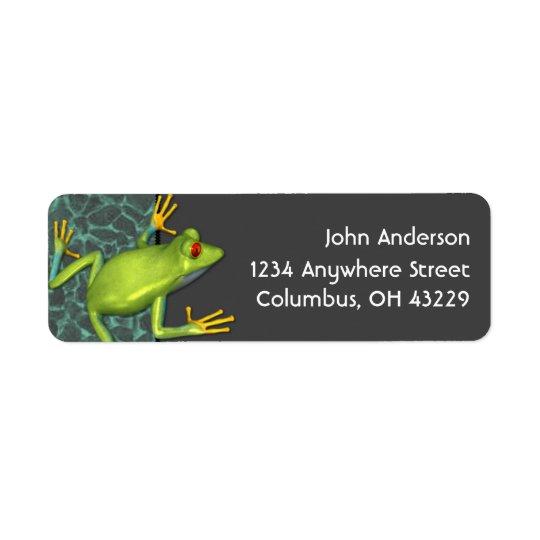 Green Tree Frog Return Address Labels