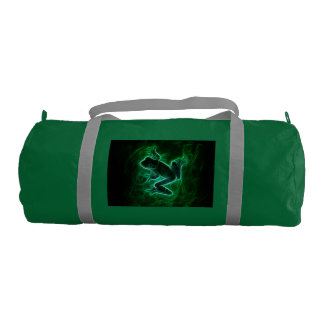 Green Tree Frog Silhouette Gym Bag