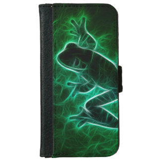 Green Tree Frog Silhouette iPhone 6 Wallet Case