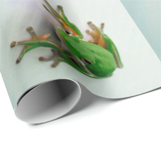 Green Tree Frog Wrapping Paper