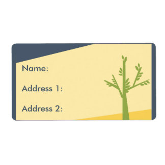 Green Tree in Desert Shipping Label