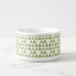 Green Tree Kale Greenery Triangle Geometric Mosaic Bowl