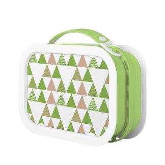 Green Tree Kale Greenery Triangle Geometric Mosaic Lunch Box