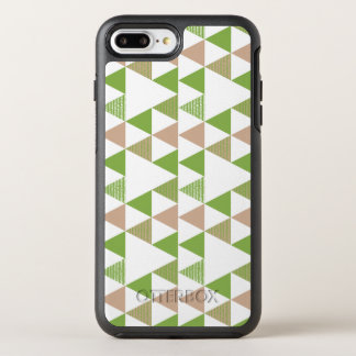 Green Tree Kale Greenery Triangle Geometric Mosaic OtterBox Symmetry iPhone 8 Plus/7 Plus Case