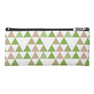 Green Tree Kale Greenery Triangle Geometric Mosaic Pencil Case