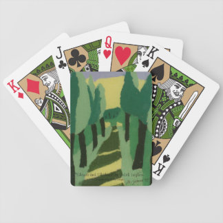 Green Tree-lined Path Playing Cards