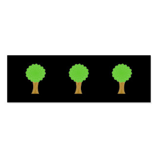 Green Tree. On black background. Business Card Templates