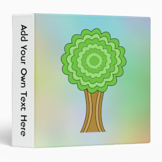 Green Tree. On multicolored background. Binder