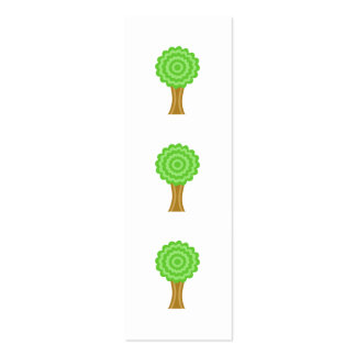 Green Tree. On white background. Mini Business Card