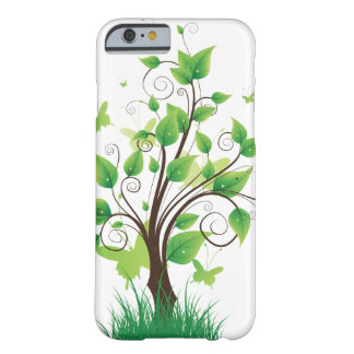 Green tree with butterflies barely there iPhone 6 case