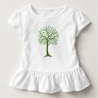 green tree with leaves in heart shape T shirt