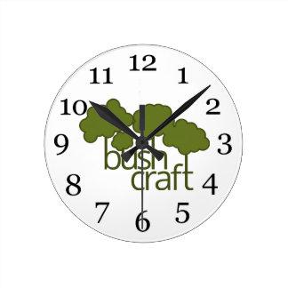 Green trees, bush craft clocks