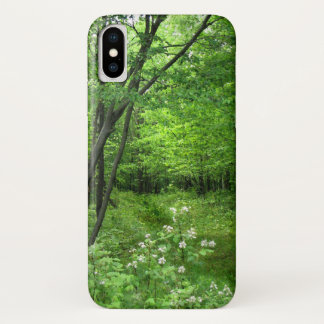 Green Trees Forest Nature Hiking iPhone X Case