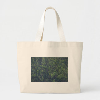 Green Trees Large Tote Bag