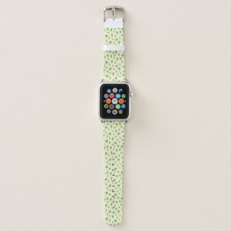 Green Trees Pattern Watercolor Tree Design Spring Apple Watch Band