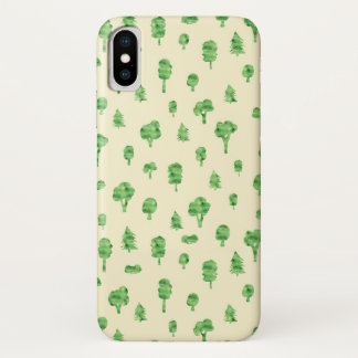 Green Trees Pattern Watercolor Tree Design Spring Case-Mate iPhone Case