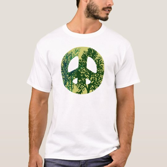 Green Trees Peace Sign T-Shirt
