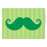 Green trendy hipster moustache