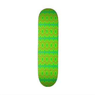 Green trendy pattern skate board