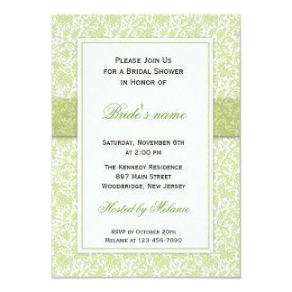 Green : : Trendy Wedding Bridal Shower Invitations