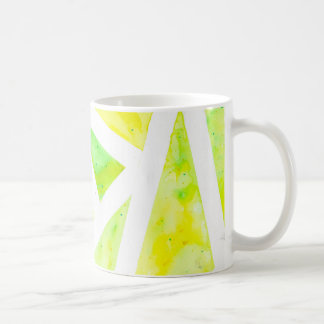 Green Triangle Coffee Mug