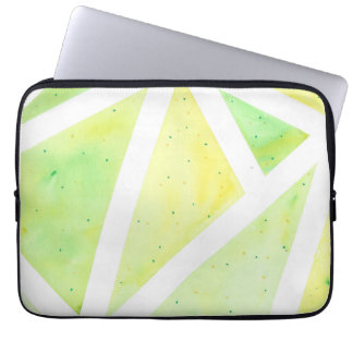 Green Triangle Laptop Sleeve